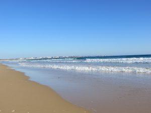 Meia Praia - kilometer langer Sandstrand mit Dünen - Blick auf Alvor